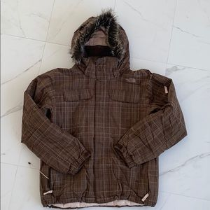 The North Face Womens Brown Plaid Jacket